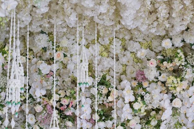 Bela decoração de flores