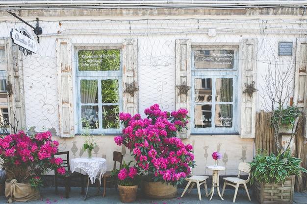Bela decoração do restaurante histórico