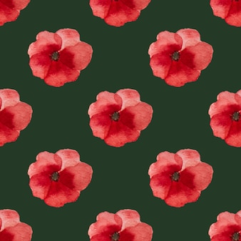 Bela foto de flores de papoula. feliz dia da lembrança. close-up, vista de cima. conceito de feriado nacional. parabéns para família, parentes, amigos e colegas