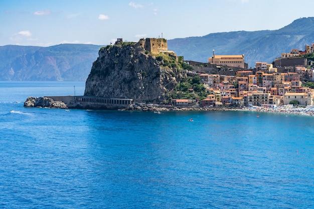 Bela foto de scilla, chianalea, calabria, itália