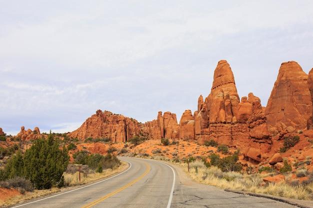 Bela imagem tirada no arches national park, em utah
