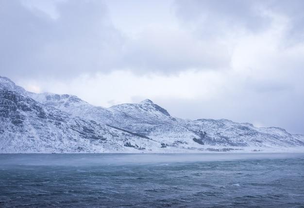 Bela natureza intocada no norte da escandinávia