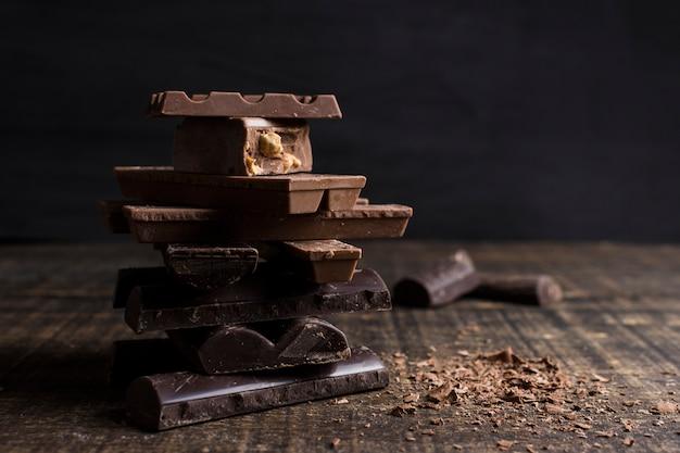 Bela natureza morta com conceito de chocolate