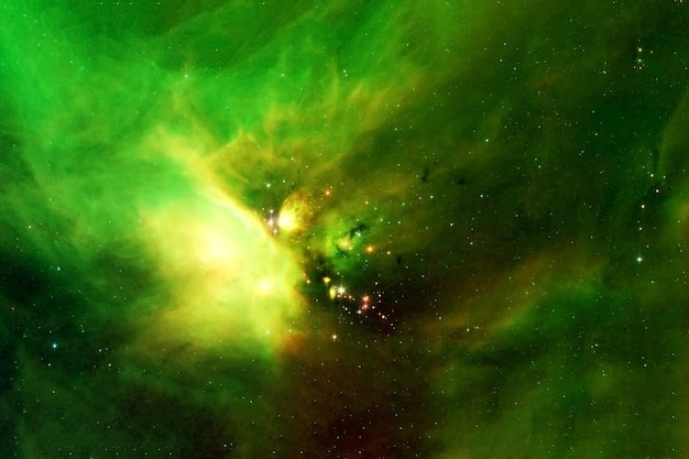 Bela nebulosa espacial de elementos de cor verde desta imagem foram fornecidos pela nasa