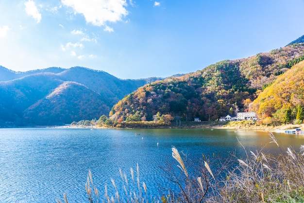 Bela paisagem ao redor do lago kawaguchiko