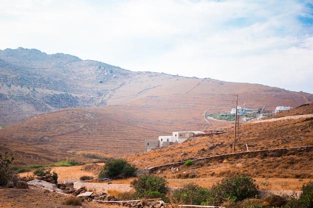 Bela paisagem da ilha de mykonos, grécia