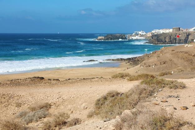 Bela paisagem de el cotillo em fuerteventura, ilhas canárias