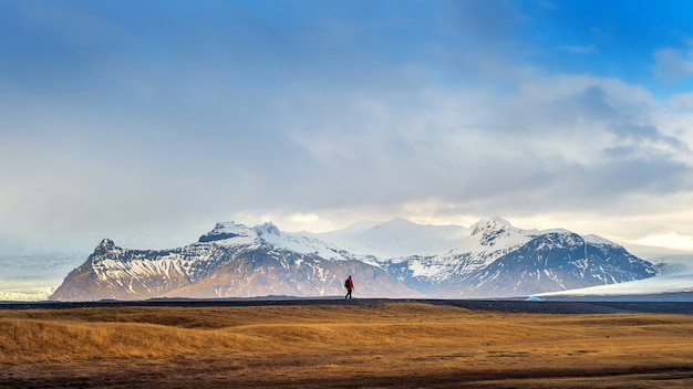 Bela paisagem na islândia.