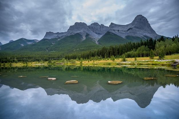 Bela paisagem no canadá