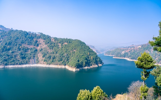 Bela paisagem no nepal
