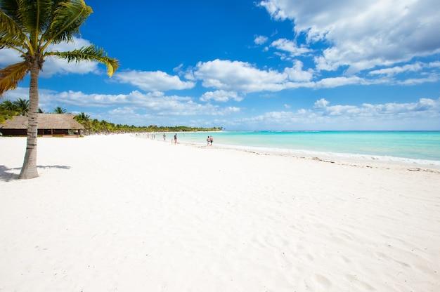 Bela praia com bangalôs aquáticos nas maldivas