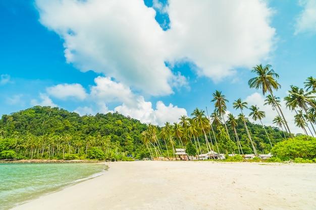 Bela praia tropical e mar