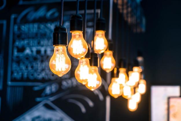 Bela retro luxo luz lâmpada decoração brilhante