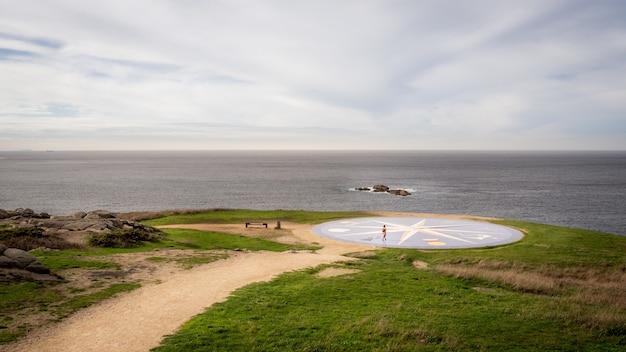 Bela vista da cidade portuária de coruna, na galiza, espanha