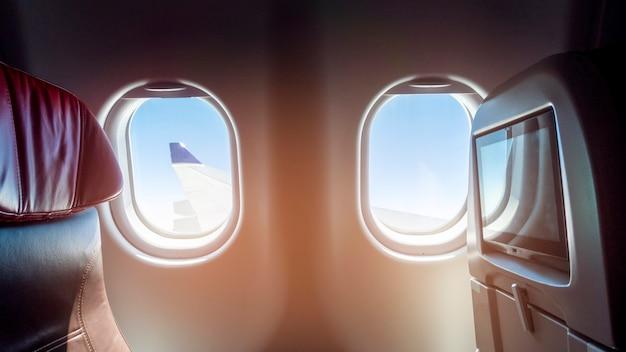 Bela vista da classe executiva de aeronaves