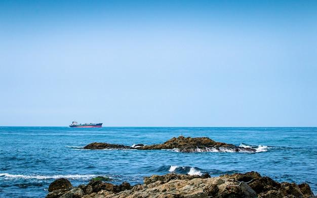 Bela vista da praia homigot, pohang, coréia do sul