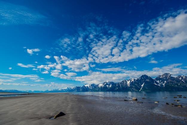 Bela vista do fiorde na noruega