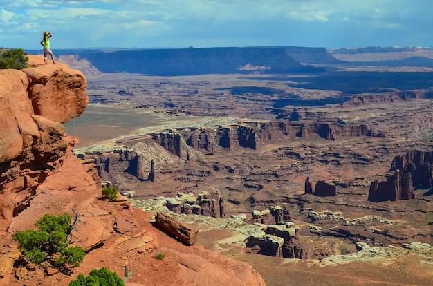 Bela vista do parque nacional canyonlands em utah, eua