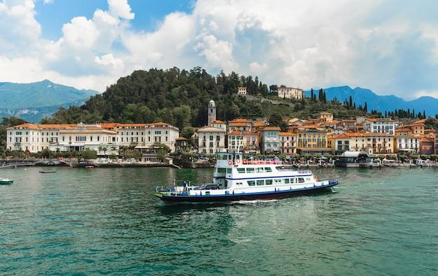 Bela vista panorâmica da vila de bellagio