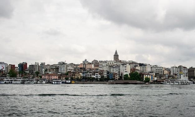 Bela vista panorâmica do bairro antigo de istambul