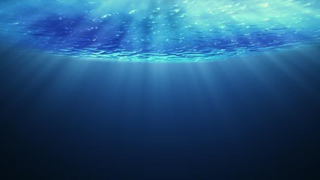 Bela vista subaquática da cena do mar