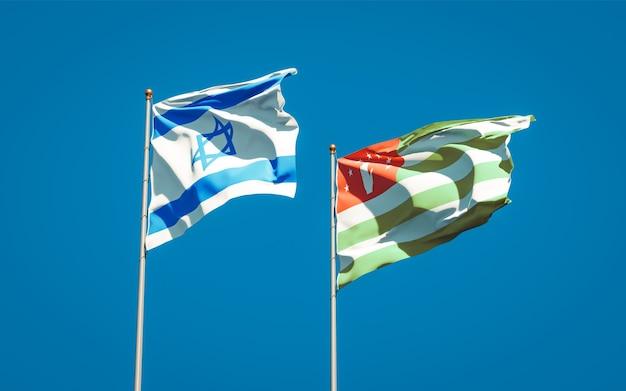 Belas bandeiras estaduais de israel e abkházia juntas