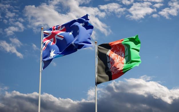 Belas bandeiras estaduais do afeganistão e da austrália
