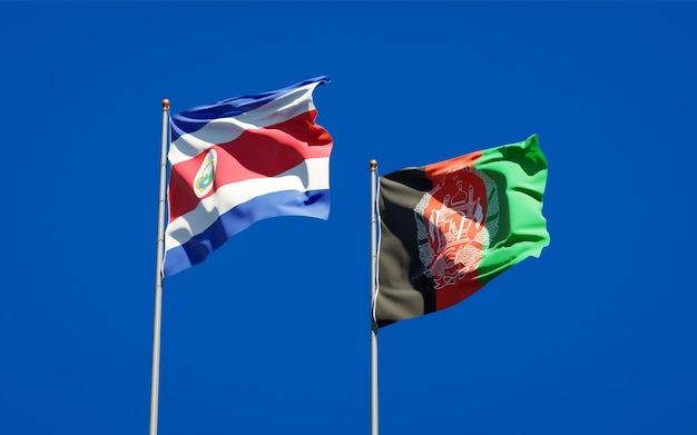 Belas bandeiras estaduais do afeganistão e da costa rica