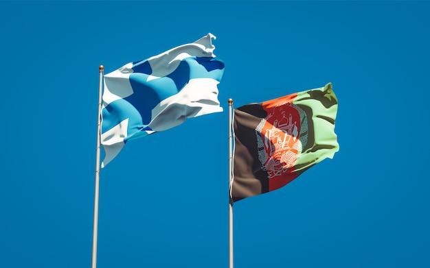 Belas bandeiras estaduais do afeganistão e da finlândia