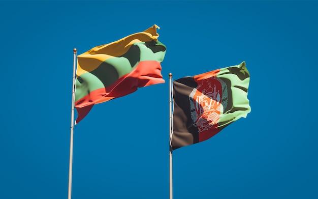 Belas bandeiras estaduais do afeganistão e da lituânia