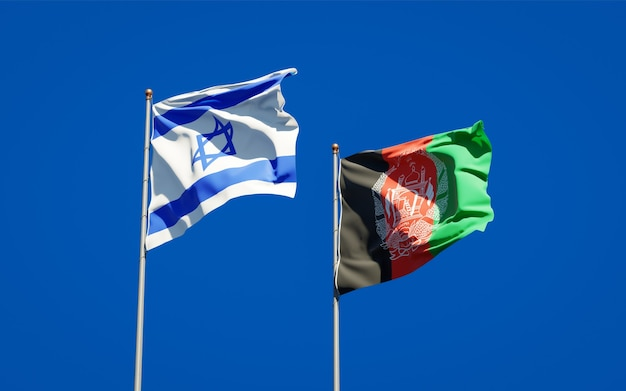 Belas bandeiras estaduais do afeganistão e de israel