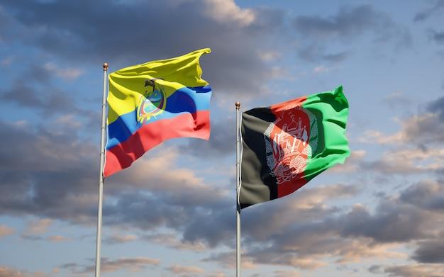 Belas bandeiras estaduais do afeganistão e equador