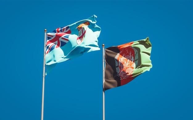 Belas bandeiras estaduais do afeganistão e fiji