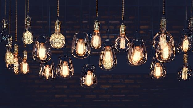 Belas lâmpadas de luxo vintage