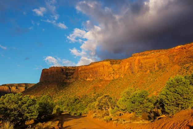 Belas paisagens do deserto americano