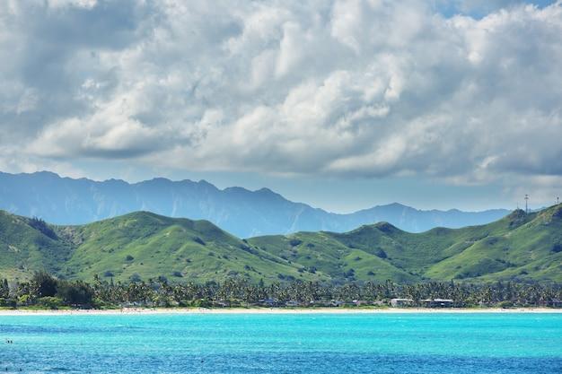 Belas paisagens na ilha de oahu, havaí
