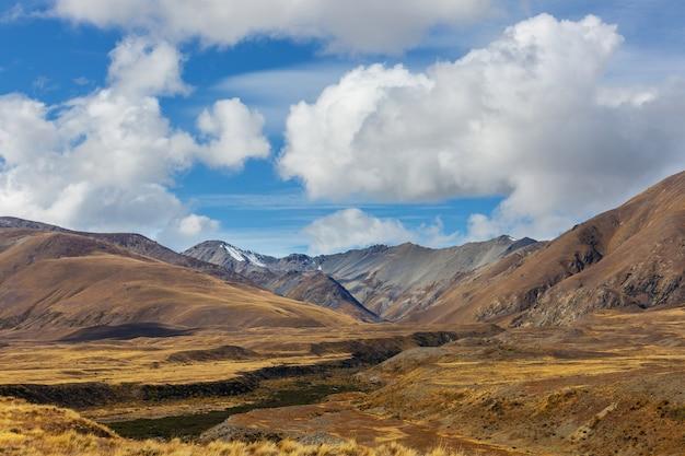 Belas paisagens naturais no parque nacional mount cook, ilha do sul, nova zelândia