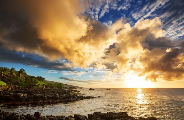 Belas paisagens tropicais na ilha de maui, havaí
