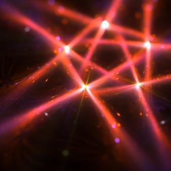 Belas raias claras que formam estrela