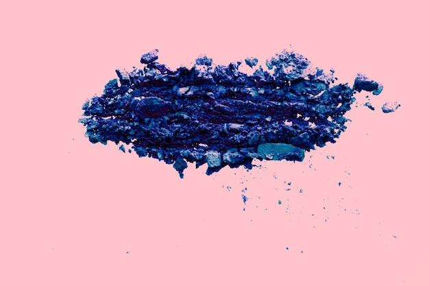 Beleza e maquiagem design flatlay sombra orgânica mineral como cosméticos em pó blush ou cosm ...