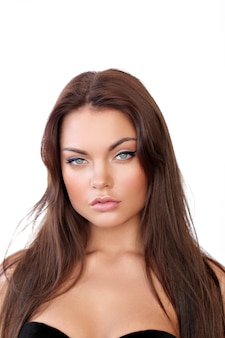 Beleza feminina close-up