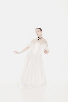Beleza romântica. bailarina estilo retro