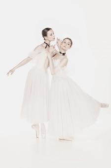 Beleza romântica. bailarinas estilo retro