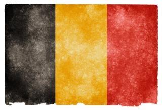 Bélgica bandeira do grunge foto