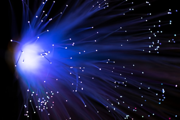 Belo caminho abstrato de luzes