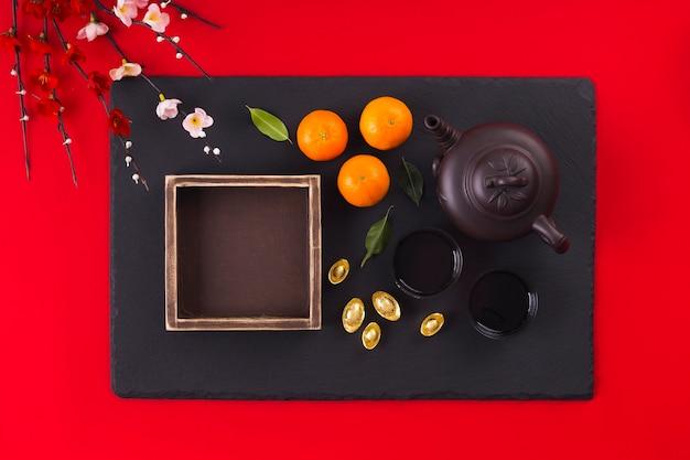 Belo conceito de ano novo chinês