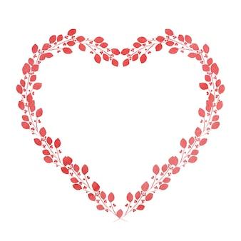 Belo desenho aquarela em forma de um coração.