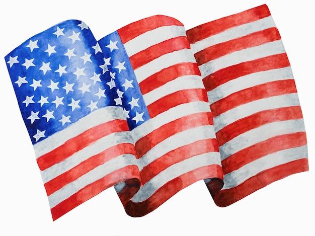 Belo desenho da bandeira americana