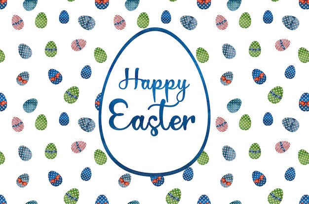 Belo desenho em aquarela de ovos de páscoa. close up, sem pessoas, textura. parabéns para entes queridos, parentes, amigos e colegas