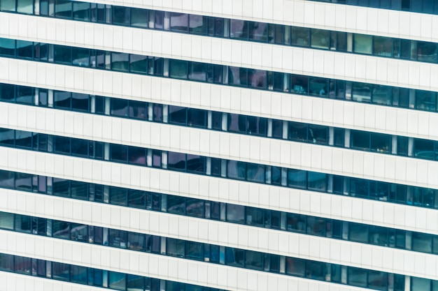 Belo edifício exterior e arquitetura com padrão de janela